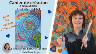 cahier de créativité (inspiration Huichol)